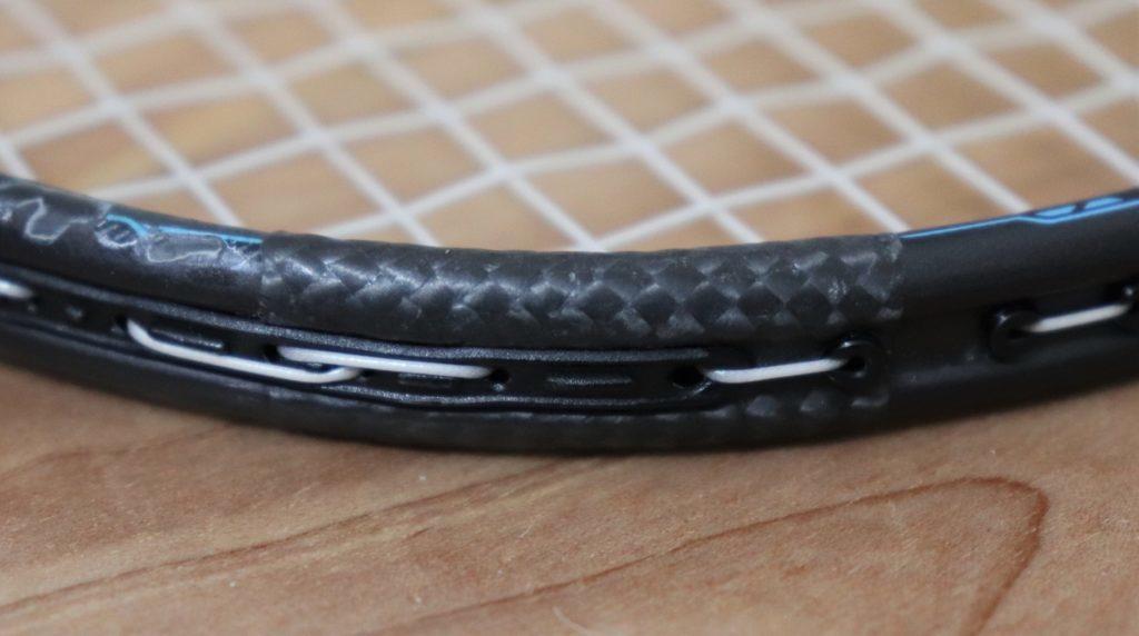 バドミントンラケットの修理箇所